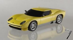 Lamborghini Miura jaune concept car jaune concept car 1/43