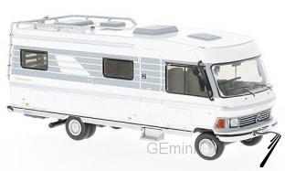 Divers . Hymer Mobil Type 650 camping car blanc/gris 1/43