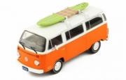 Volkswagen . orange/blanc avec Surf 1/43