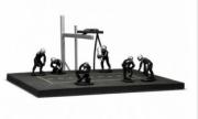 Divers Diorama Pit stop noir avec 6 figurines  1/43
