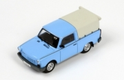 Trabant . 1.1 puck up closed light blue 1/43