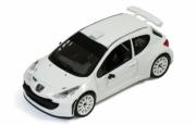 Peugeot 207 S2000 rallye SPEC version blanche avec 2 sets de pneus sur jantes  1/43