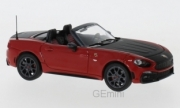 Fiat . 124 Spider Turismo rouge capot noir 1/43