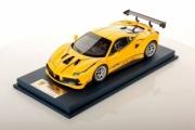 Ferrari 488 Challenge jaune Modena avec décoration 25ème anniversaire Challenge jaune Modena avec décoration 25ème anniversaire 1/18