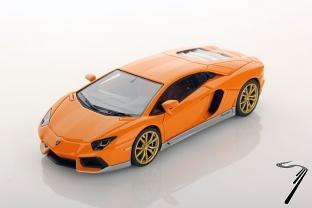 Lamborghini Aventador LP 700-4 Miura homage jaune Miura/argent intérieur terre Emilia LP 700-4 Miura homage jaune Miura/argent intérieur terre Emilia 1/43