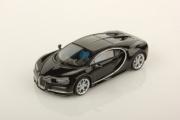Bugatti Chiron noir uni noir uni 1/43