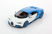 Bugatti Chiron bleu clair Bugatti sport / blanc glacier bleu clair Bugatti sport / blanc glacier 1/43
