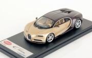 Bugatti Chiron marron carbonne / soie marron carbonne / soir doré 1/43