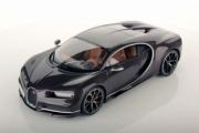 Bugatti Chiron marron foncé carbonne marron foncé carbonne 1/43