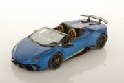 Lamborghini Huracan Performante cabriolet bleu mat Performante cabriolet bleu mat 1/43
