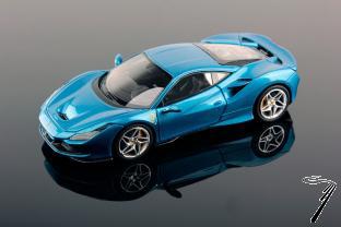 Ferrari F8 Tributo bleu - Salon de Geneve Tributo bleu - Salon de Geneve 1/43