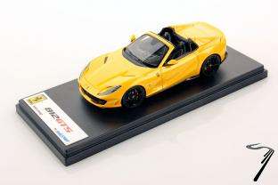 Ferrari 812 GTS cabriolet jaune Tristato GTS cabriolet jaune Tristato 1/43