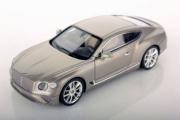 Bentley . GT argent extrème métallisé 1/43