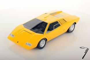 Scale 1 18 Lamborghini Countach Lp500 Jaune Looksmart Clic Model Com