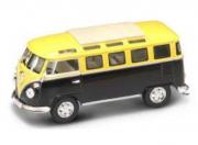 Volkswagen . Minibus vert jaune 1/43