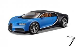 Bugatti Chiron bleu bleu 1/24