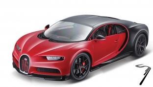 Bugatti Chiron Sport rouge Sport rouge 1/24