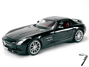 Mercedes SLS Gullwing couleurs variables Gullwing couleurs variables 1/18