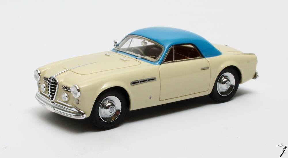 Alfa Romeo . 2500 SS Supergioiello Ghia Coupé crème / bleu 1/43
