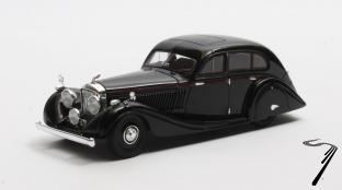 Bentley . 4,5 litres Gurney-Nutting Airflow Saloon #B118HK Noire 1/43