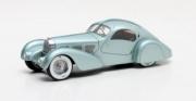 Bugatti . Aérolithe bleu gris 1/43