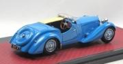 Bugatti . S Corsica Roadster Malcom Campbell #57531 bleu - demi ouverte - Edition limitée à 144 pièces 1/43