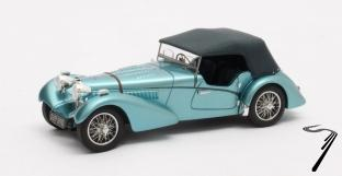 Bugatti . SC Sport Tourer Vanden Plas chassis #57541 - cabriolet bleu métal fermé 1/43