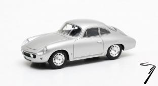 Porsche . 1600 Reutter Ghia Aigle argent 1/43