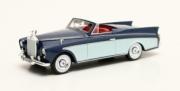 Rolls Royce . Freestone & Webb RR SC honeymoon express cabriolet 2 tons bleu intérieur rouge - volant à droite 1/43