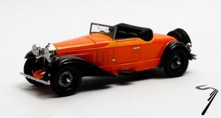 Bugatti . Cabriolet de Villars #46360 Orange 1/43
