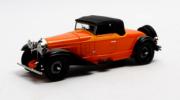 Bugatti . Cabriolet Fermé de Villars #46360 Orange 1/43
