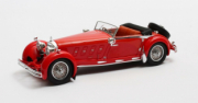 Mercedes . S Armbruster cabriolet rouge 1/43