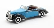 Voisin . Goelette cabriolet Dubos bleu/noir 1/43