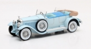 Hispano Suiza . H6B Million-Guiet dual cowl pheaton cabriolet bleu 1/43
