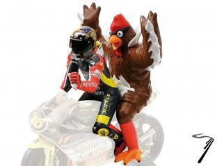 Divers GP 250 Barcelone - Figurine Valentino Rossi (avec Poulet)  1/12