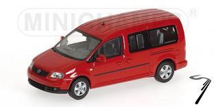 Volkswagen . Maxi Shuttle rouge 1/43