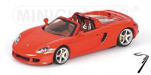 Porsche Carrera GT rouge Rouge 1/43