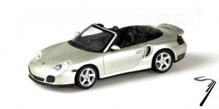 Porsche 911 Turbo cabriolet argent Turbo Argent 1/43