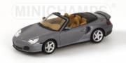 Porsche 911 Turbo cabriolet gris métal Turbo Gris Métal 1/43