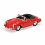 Porsche 356 B Cabriolet Rouge  B Rouge 1/43