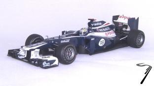 Williams FW34 Renault 1er GP Espagne - Dernière victoire Williams en GP  1/43
