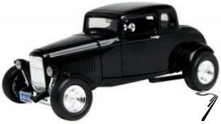 Ford . Hot rod noir 1/18