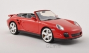 Porsche 911 997 turbo cabriolet rouge 997 turbo cabriolet rouge 1/18