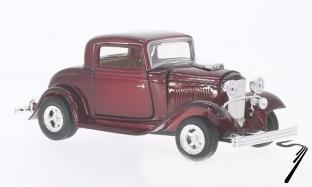 Ford . coupé rouge foncé 1/24