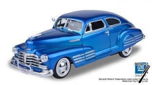 Chevrolet . Aerosedan Fleetline bleu métallisé 1/24