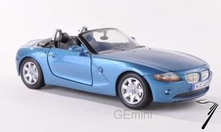 BMW . bleu cabriolet 1/24