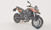 BMW F800GS noir mat/orange  1/18