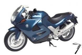 BMW K1200RS bleu  1/6
