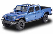 Jeep . Rubicon ouverte Bleu - Echelle 1/27 1/24