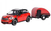 Mini . S Countryman rouge/noir avec caravane 1/24